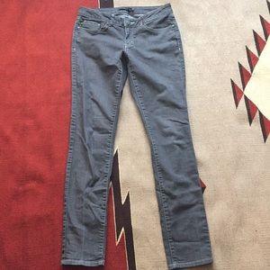 Prana Kara Skinny Jeans grey w/white stitches 6